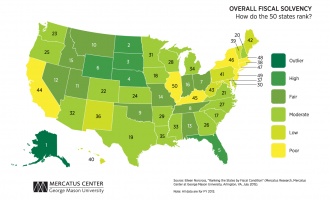 The Map That Perfectly Depicts Just How Much Of A Fiscal Mess Liberal States Are In