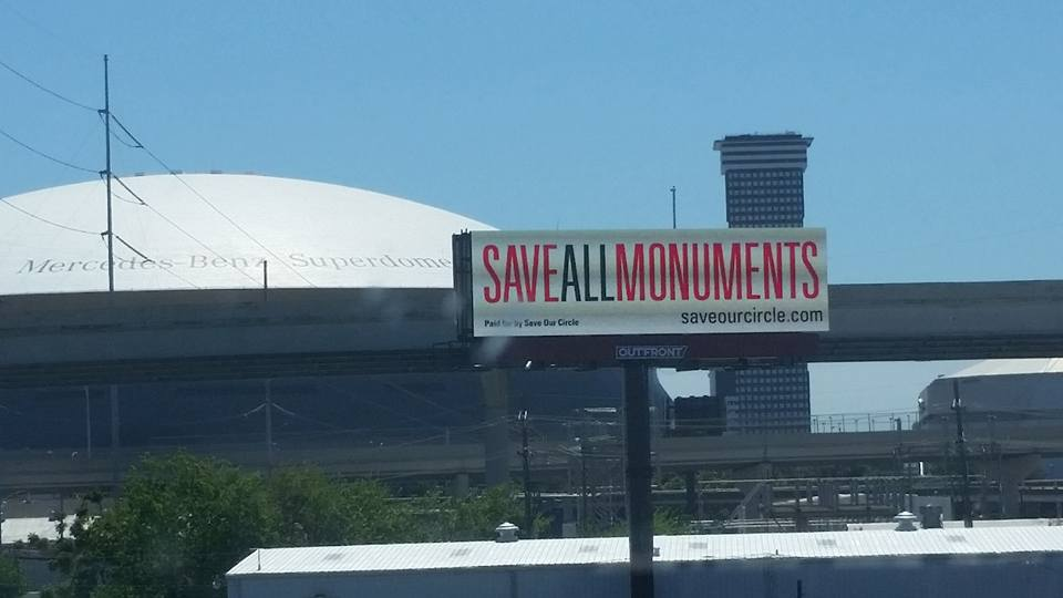 Save Our Circle billboards
