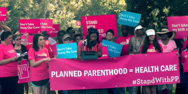 Watch These Louisiana Planned Parenthood Supporters Literally Ignore Organ Harvesting Videos At Their Rally Yesterday