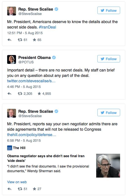 scalise obama twitter