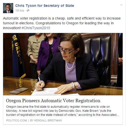 tyson automatic voter registration