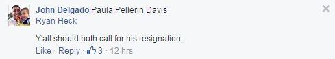 delgado demands heck and davis call arbour to resign