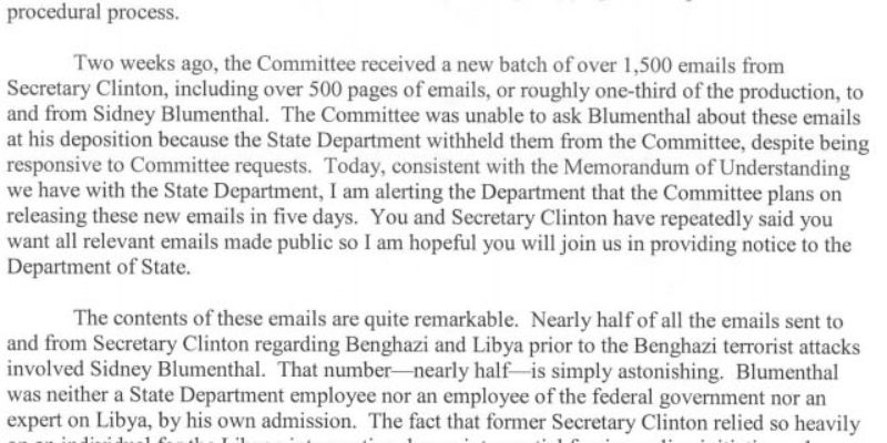 The Trey Gowdy Letter Is Amazing…
