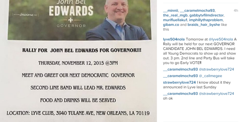 EXCLUSIVE: Apparently John Bel Edwards Hosted A 'Meet And Greet' At A New Orleans Club