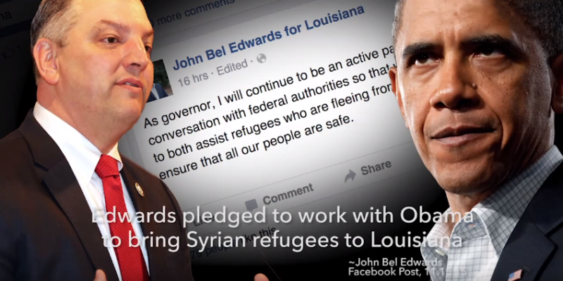 VIDEO: Vitter Slams Edwards on Refugee Statements