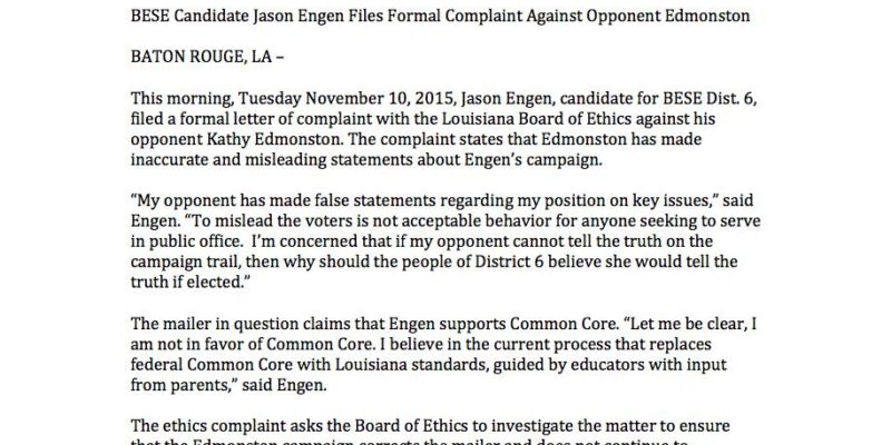 """HUDSON: Engen """"Let Me Be Clear, I Am Not In Favor of Common Core."""""""
