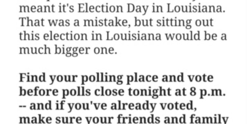Hillary Screws Up Her Election-Day Appeal For John Bel Edwards