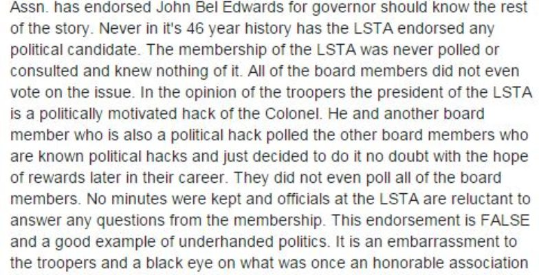 Something Is Awfully Fishy About John Bel Edwards' Endorsement By The State Troopers