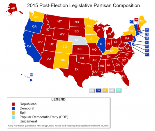 The Map That Shows How Much Control Republicans Have Over