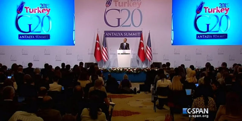 """VIDEO: Here's """"President Indifferent"""" Obama's Eye-Popping Press Conference From Turkey"""