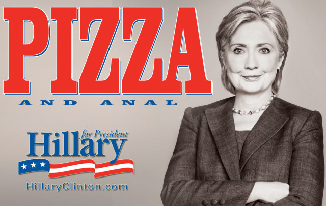 pizza and anal hillary