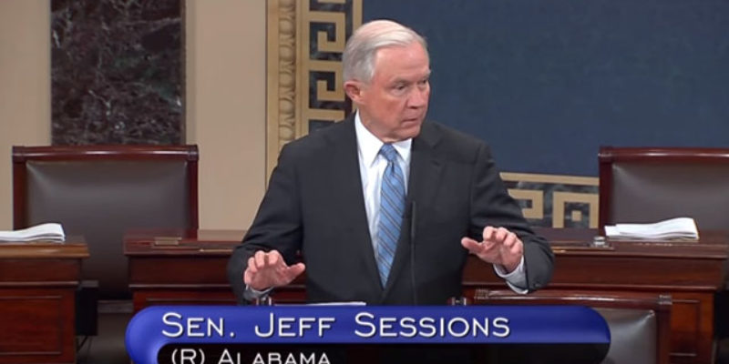 VIDEO: Jeff Sessions Didn't Like The Immigration Provisions In The Omnibus Spending Bill