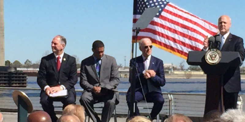 Joe Biden Tells New Orleans Crowd, John Bel Edwards 'We're On The Verge Of Resurgence' 8 Years Into Obama Economy