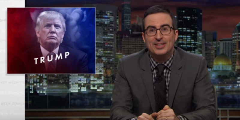 VIDEO: John Oliver Completely Obliterates Donald Drumpf