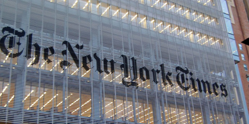 New York Times Proves To Be Out Of Touch With Reality