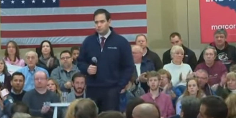 "VIDEO: Rubio's Terrific ""We're All In This Together"" Speech"
