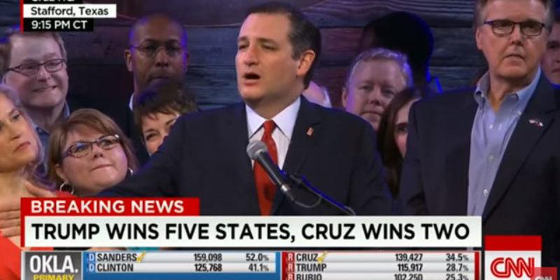 VIDEO: Cruz' Super Tuesday Speech