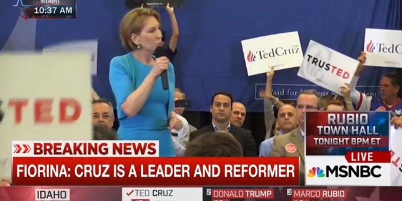 VIDEO: Carly Fiorina Endorses Ted Cruz