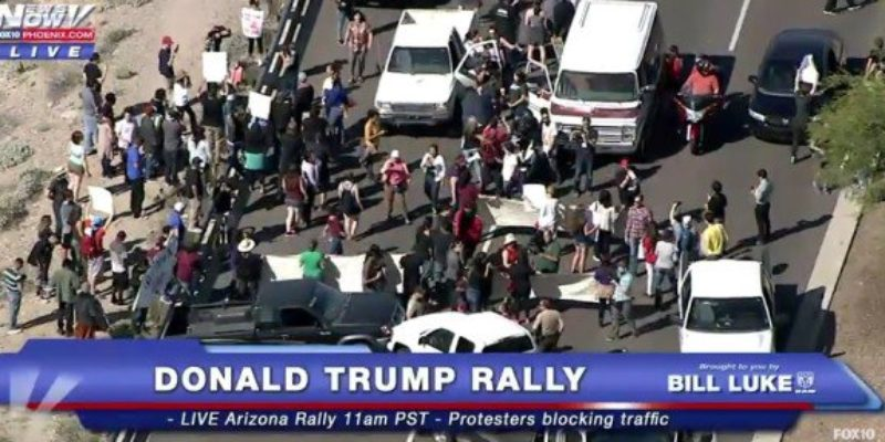 That Kook Who Chained Herself To A Van And Blocked Access To The Arizona Trump Rally? Yeah, She's From NOLA