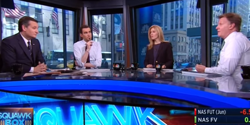 VIDEO: Ted Cruz Does CNBC's Squawk Box, And It's Amazing