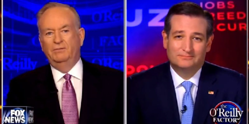 "VIDEO: Cruz To Bill O'Reilly On Trump – ""You Defend Him A Lot"""