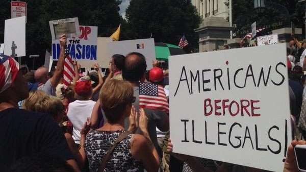 Americans before illegals sign