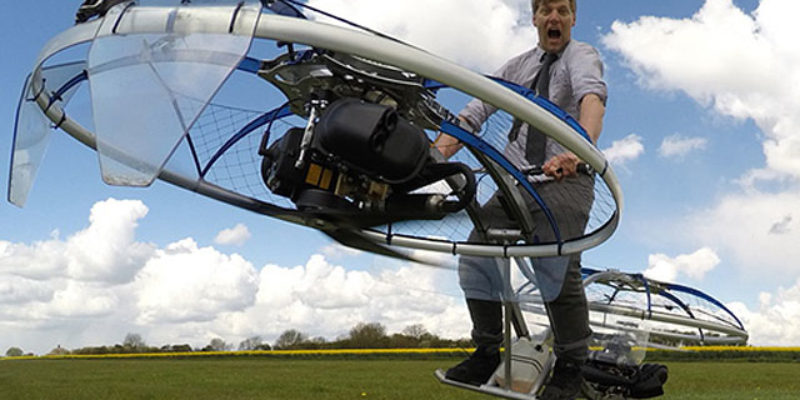 VIDEO: Insane Brit Plumber Makes Highly Unsafe Flying Machine