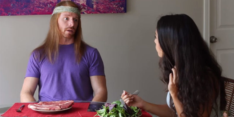 "The Hilarious ""If Meat Eaters Acted Like Vegans"" Video Everybody's Talking About"