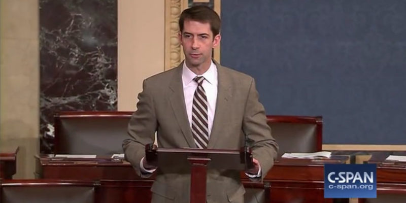 VIDEO: Tom Cotton Verbally Dismembers Harry Reid On The Senate Floor