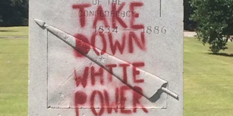 EXCLUSIVE: At Least Four New Orleans Monuments Vandalized With 'White Power' Label By Activist Group