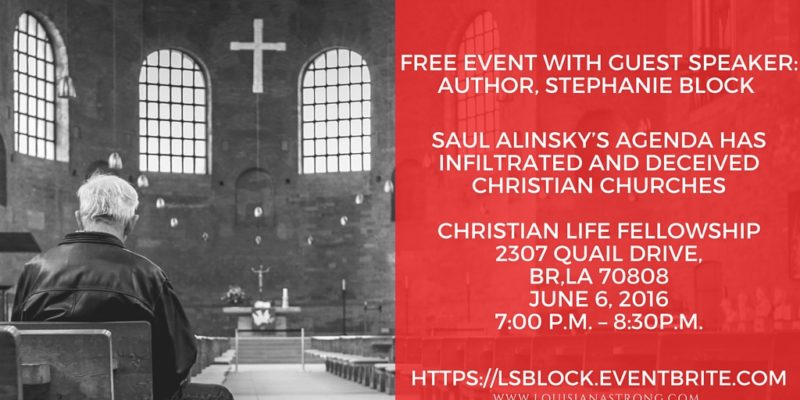 Louisiana Strong Welcomes Author Stephanie Block – FREE EVENT JUNE 6th