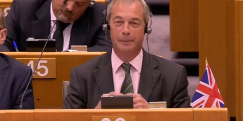 VIDEO: Nigel Farage Returns To The European Parliament To Gloat Over Brexit, And It's Awesome