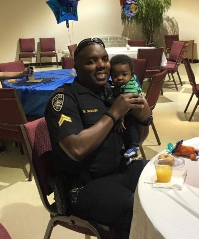 montrell jackson with child