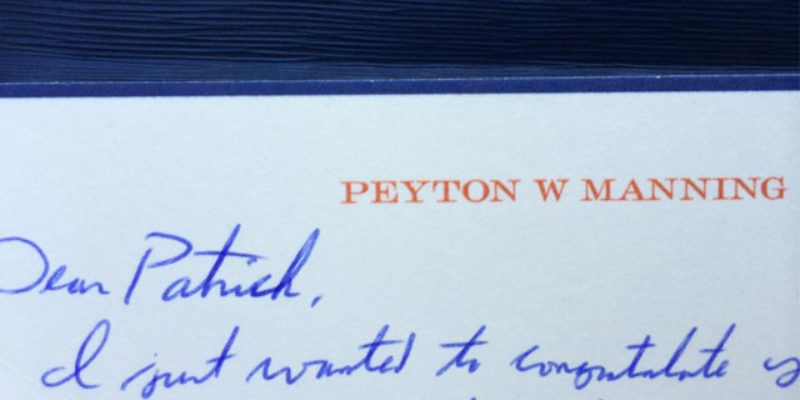 Have You Seen The Video Trolling Peyton Manning For His Letters To Coaches, Family And Teammates?