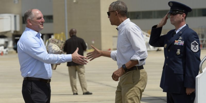 John Bel Edwards Gets Called Out For Hypocrisy On Trump And Obama's Visits By Radio Caller