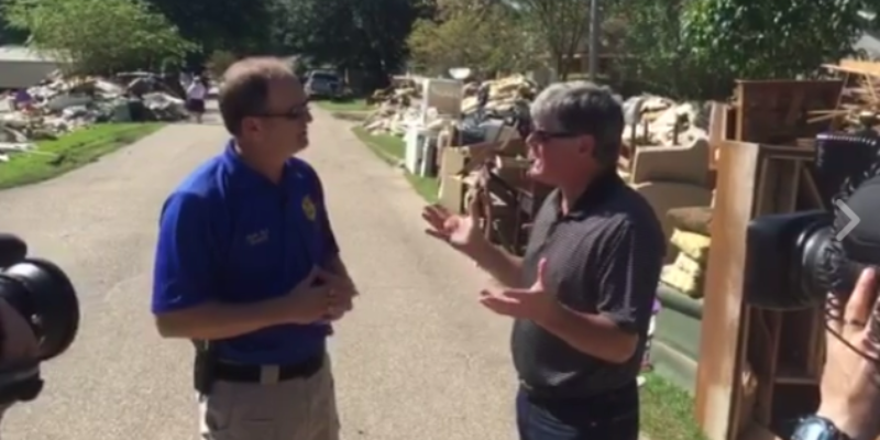 VIDEO: Sean Hannity Makes His Way Down To Louisiana For Special On Flood Victims Airing Tonight