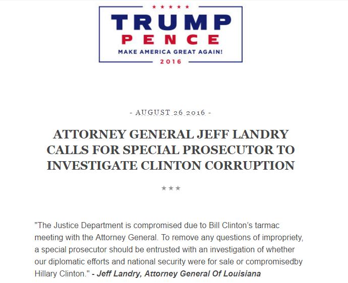 Jeff Landry Trump email