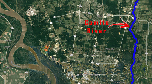 comite river map baker-zachary