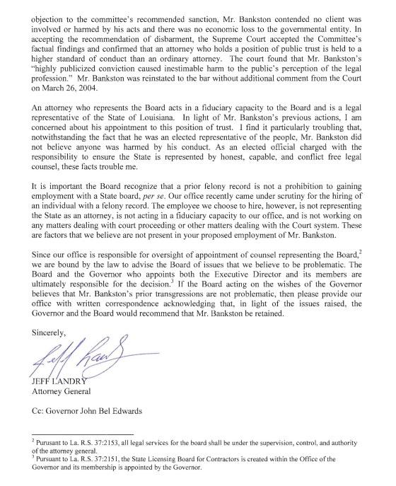 landry bankston letter 2