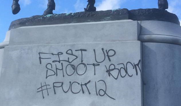 nola monument pgt vandalized