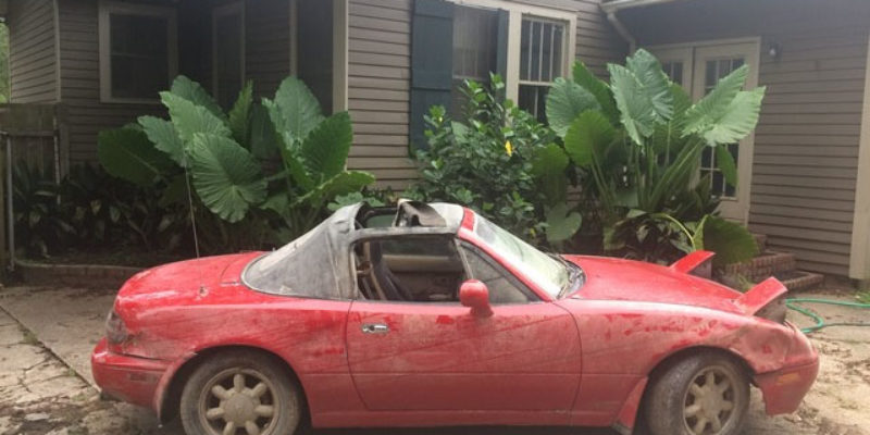 Turns Out The Famous Sinking Miata Was…Stolen – UPDATED: Well, Not Exactly