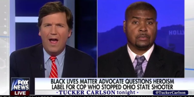 VIDEO: Tucker Carlson Flat-Out Abuses Another Moron, This Time On The Ohio State Terrorist Attack