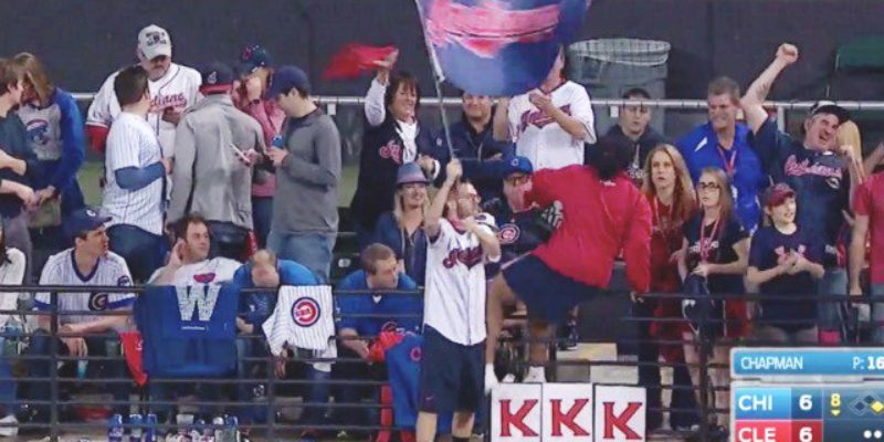 Some People, Along With Mediaite, Thought They Saw A KKK Sign During Game 7