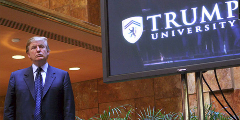 It Looks Like They're Going To Settle The Trump University Case…