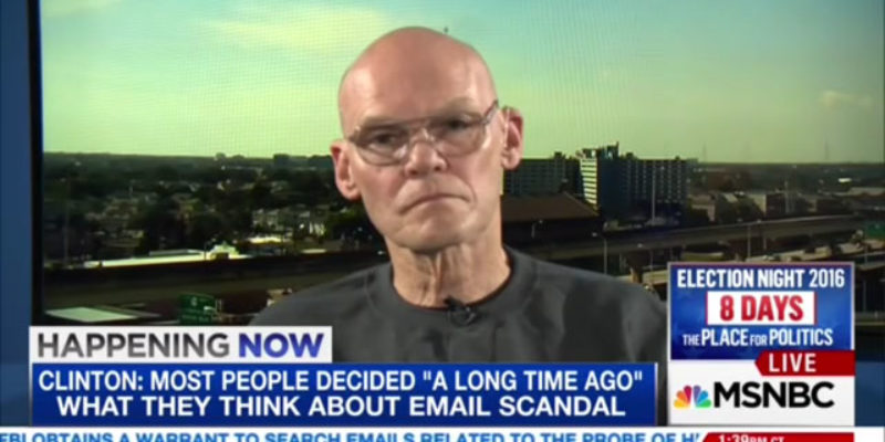 "Pay Attention To What ""Anti-Woke"" James Carville Is Doing Right Now"