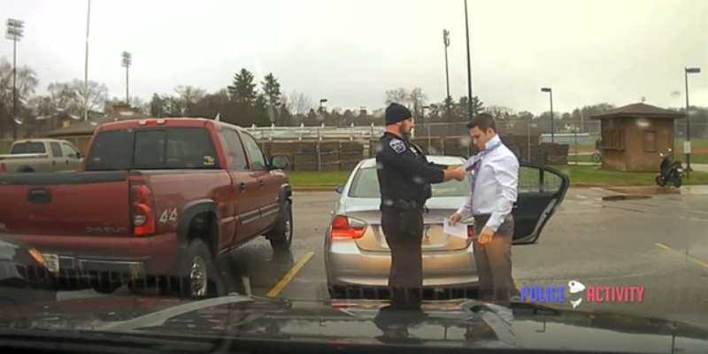 VIDEO: Cop Pulling Over A Speeder And Helping With A Tie Is Called 'White Privilege' By Lefty Media Outlet