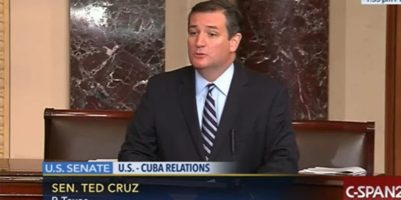 VIDEO: Ted Cruz On The Death Of Fidel Castro, And The Left's Encomiums To Him
