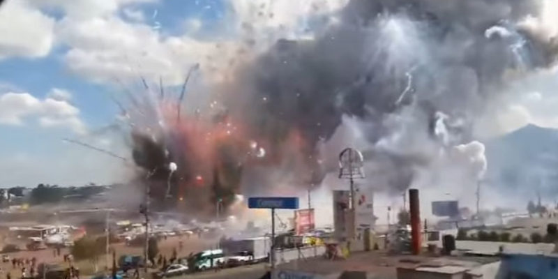 VIDEO: In Case You Haven't Seen The Footage Of The San Pablito Fireworks Explosion In Mexico, Here It Is