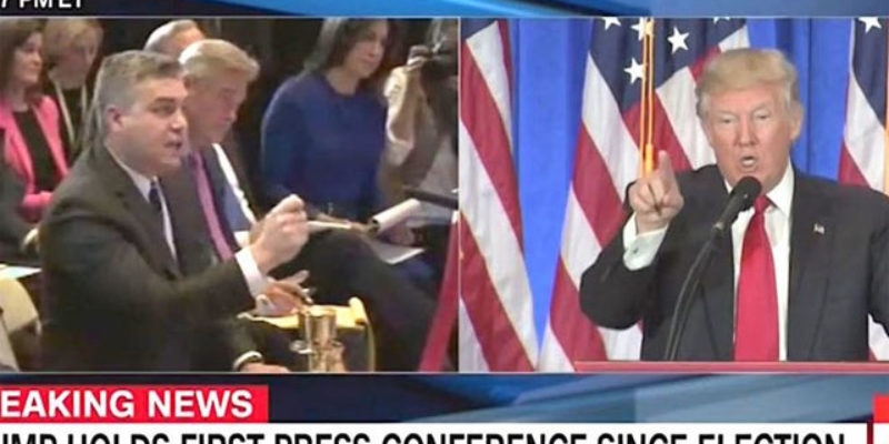 CROUERE: Acosta Accosts Trump At Media Showdown