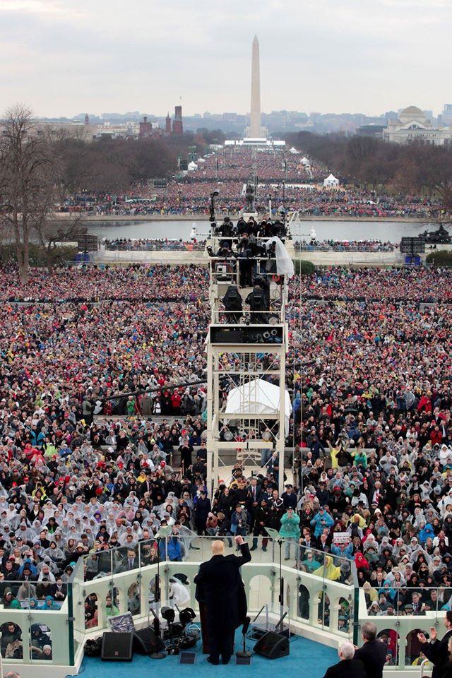 trump crowd inauguration